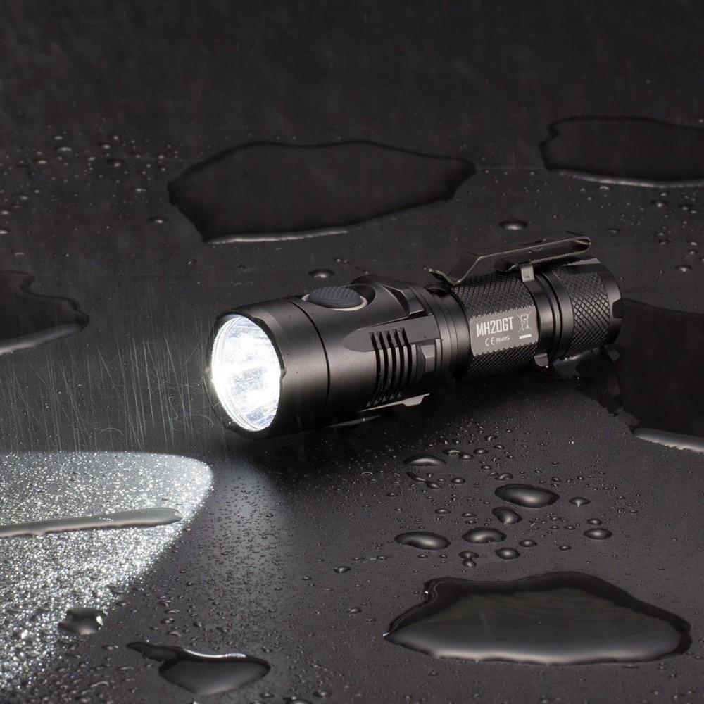 Top Sales NITECORE MH20GT BOXSET 1000LMs LED Lamp Torch Waterproof Flashlight USB Rechargeable18650 Li ion Battery Free Shipping - 3