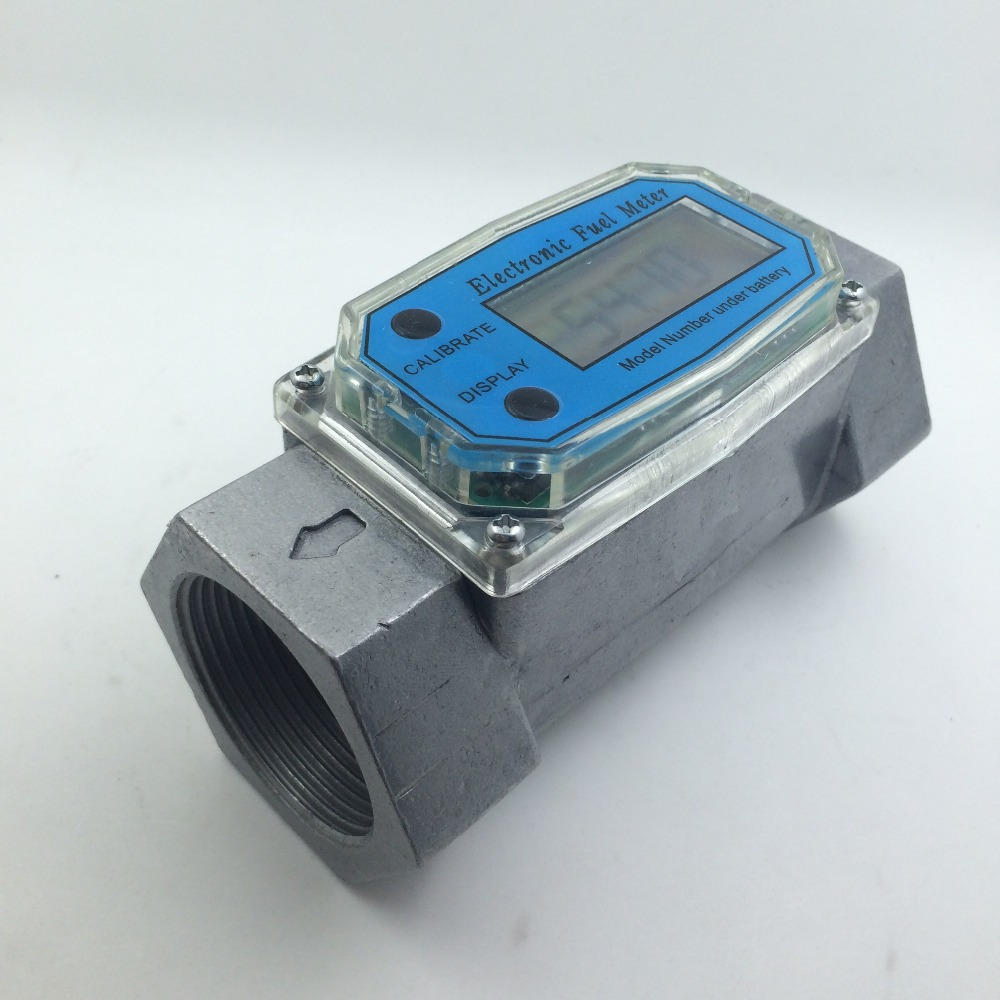 Digital Turbine Flow Meter petrol fuel gauge caudalimetro Flowmeter plomeria Pumping flow indicator sensor Counter DN40 G1.5 digital turbine flow meter flowmeter gauge caudalimetro electronic flow indicator sensor counter petrol fuel plomeria water dn25