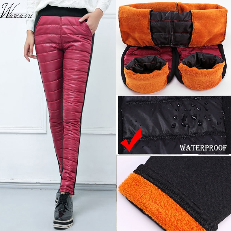 Snow Wear Black Warm Sweatpants Women New Arrival Casual Leggings Trousers Female High Waist Thicken Down Cotton Ladies Pants
