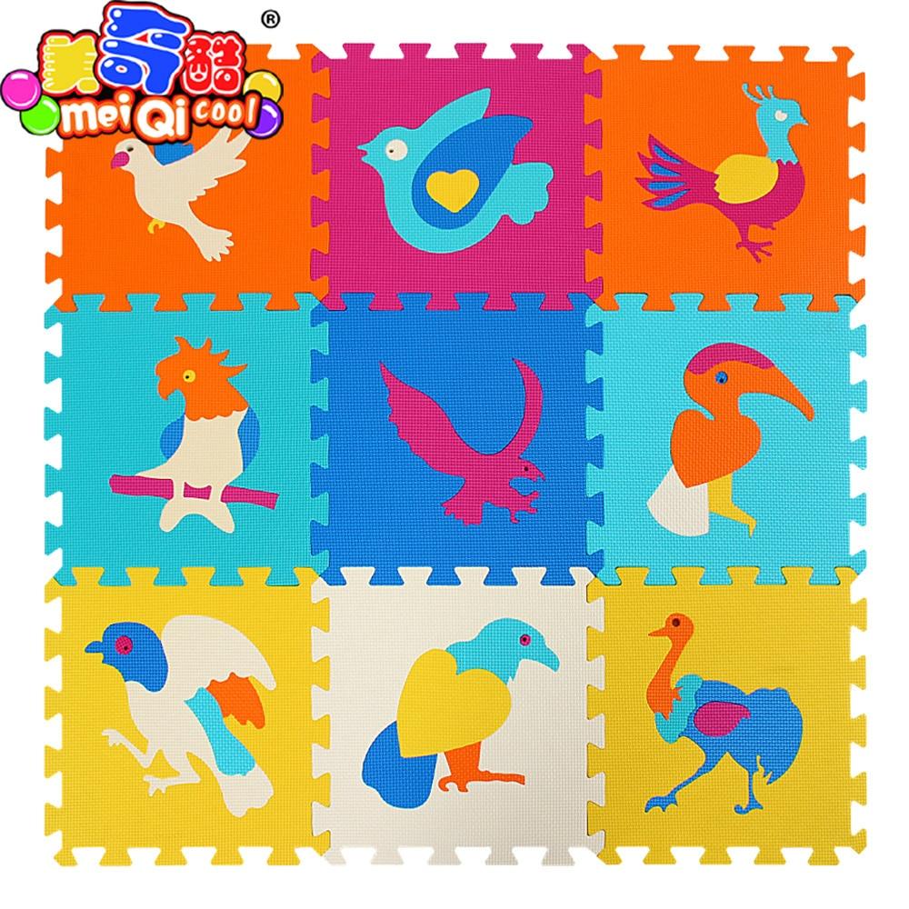 Детская Мягкая развивающая ползет ковры, детская игра-головоломка животных/мультфильм коврик eva пены, коврик для детских игр 32*32*1 см ...