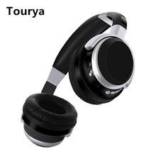Tourya B9 беспроводные наушники Bluetooth наушники накладные Hi-Fi глубокий бас гарнитура с микрофоном FM Поддержка sd-карты для ПК мобильного телефона