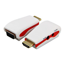 Advanced 2018 new cable HDM Computers 1080P HDMI to VGA Male to Female Converter Adapter With USB Power Audio Cable