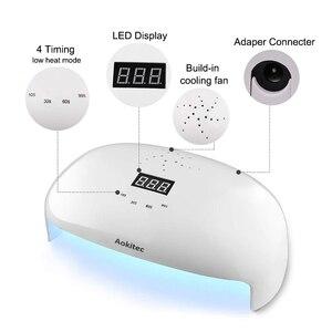 Image 3 - Aokitec UV lamba tırnak 78W iki el Led jel lamba çivi kızılötesi sensör 4 zamanlayıcı tırnak kurutucu 56 boncuk LCD tırnak lambası manikür için