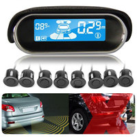 LCD Display Car Parking Sensor 8 Rear Front View Reverse Backup Radars System Kit Car detector Reversing Sensors Car Accessories