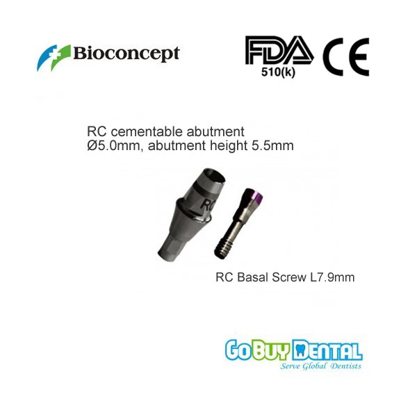 все цены на Straumann Compatible Bone Level RC Cementable abutment, diameter 5.0mm, Gingiva height 3mm, Abutment Height 5.5mm
