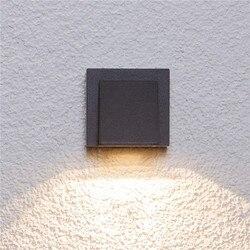 Aluminiowa kinkiet wodoodporna zewnętrzna lampka led kinkiety dziedziniec na zewnątrz lampa tarasowa Hotel balkon oświetlenie ścienne B2N w Zewnętrzne lampy ścienne od Lampy i oświetlenie na