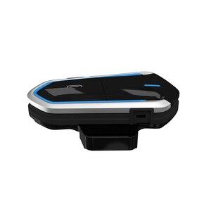 Image 4 - אופנוע קסדת אוזניות Bluetooth 4.1 אוזניות האינטרפון עמיד למים אלחוטי ארוך המתנה קסדת אוזניות אוזניות מקלט