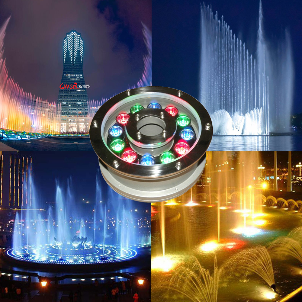 6W 12W 18W Underwater Pond light IP68 White/ Warm White RGB LED fountain 12V/24V Swimming Pool Led Decoration lamp