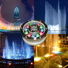 цены на 6W 12W 18W Underwater Pond light IP68 White/ Warm White RGB LED fountain light 12V/24V Swimming Pool light Led Decoration lamp  в интернет-магазинах