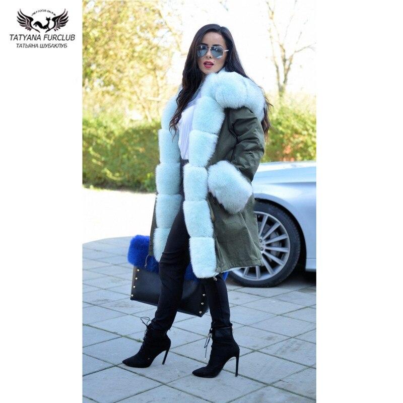 Tatyana Furclub Real Fur Jacket Women Genuine Fur Coat Winter Thick Warm Parkas With 100 Real