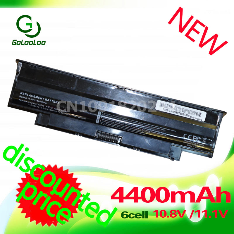 Golooloo 4400mAh Battery For Dell j1knd For Inspiron 13R 14R 15R 17R M501 M511R N4050 N4110 N5010 N5110 N7010 N3010 N3110 N4010 аккумуляторная батарея topon top 15r 4400мач для ноутбуков dell inspiron 13r 14r 15r 17r m4110 m5010 m5030 n3010 n4010 n4011 n4110 n5010 n5030 n5110 n7010 n7110 vostro 1440 1540 3550