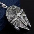 Colar de Pingentes de Jóias Filme de Star Wars Millennium Falcon Darth Vader Homens Mulheres Amantes do Cinema 3D para Os Fãs Lembranças Colar Quente