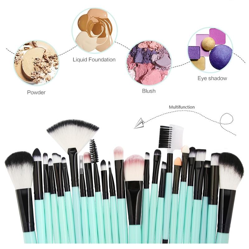 25pcs Makeup Brushes Set Foundation Power Blush Eye Shadow Brow Eyelash Lip Face Brush Kit Tool 789(China)