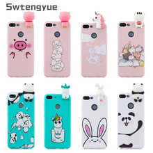 3D Cartoon case on For Funda Huawei Honor 9 lite cover Silicone Soft TPU Coque Doll Toy Cases Etui