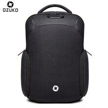 Рюкзак ozuko, водонепроницаемый, мужской, Mochila, внешний, USB, зарядка, 15,6 дюймов, рюкзак для ноутбука, школьный, Повседневный, школьный, анти-вор, рюкзак