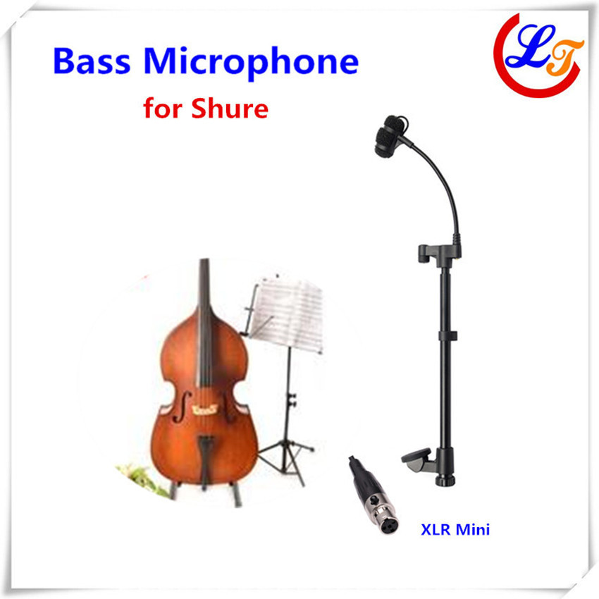 Professional Lapel Music Instrument Microfone Double Bass Microphone Lapeal for Shure Wireless System XLR Mini Microphones  professional lapel music instrument microfone double bass microphone lapeal for shure wireless system xlr mini microphones
