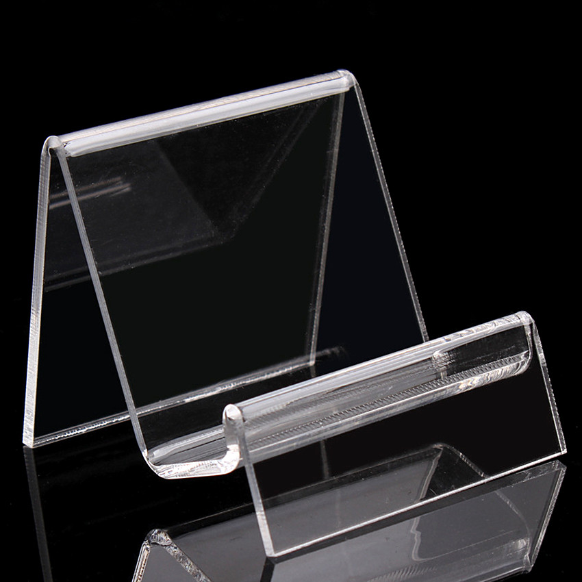 b050cf9464573 Şeffaf Akrilik T3mm Tek Katmanlı Çanta Cüzdan Çanta Iphone Kitap Işareti  Ekran Rafları Sahipleri Standları 500 adet Yüksek Kalite