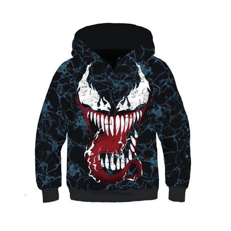 2d85da38 Kids Boys Girls Venom Carnage Cosplay 3D Print Hooded Sweatshirt Jacket  Long Sleeve Hoodie Tops Pullover Outwear Costumes on Aliexpress.com    Alibaba Group