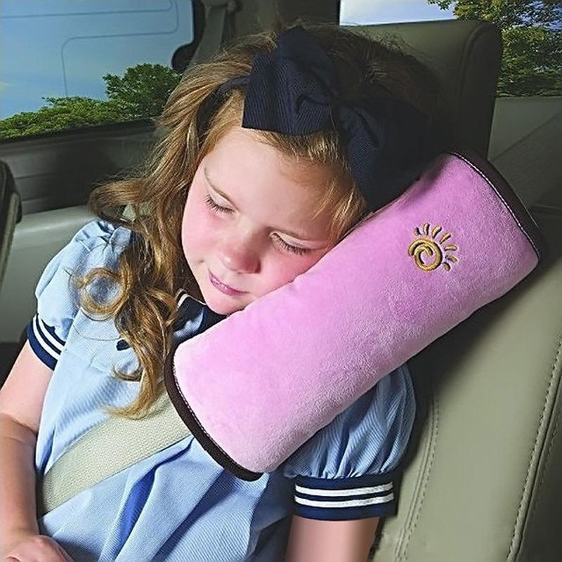 Protection Children Car Seat Baby Plush Toy Belts Pillow Protect Kids Head Shoulder Safety Infant Sleep Toys T0163 hot sale baby car auto safety seat belt harness shoulder pad cover children protection car covers car cushion support car pillow