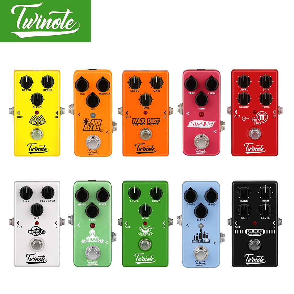 Twinote Power Supply and Guitar Effect Pedal Overdrive/Distortion/Chorus/Digital Delay/Vintage Distortion/Modern FUZZ /Old Schoo twinote boogie dist mini guitar pedal old school distortion tone synthesizer for mesa boogie guitar effect pedal