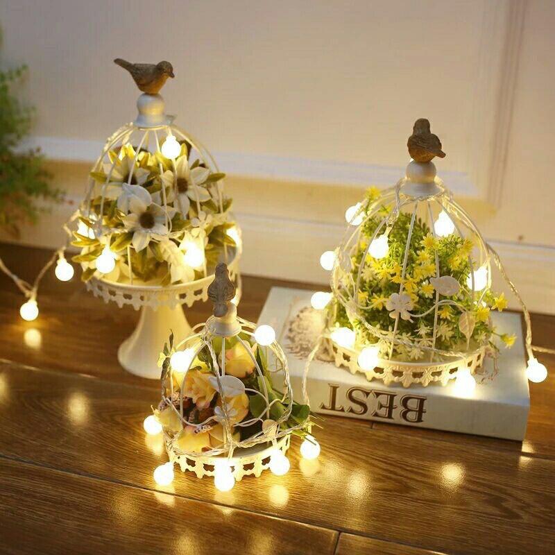 Colorful/Warm White 1.5M 10LED 3M 20LED 6M 40LED Outdoor Garden Fairy Light Holiday INS Lighting Christmas LED String Lights