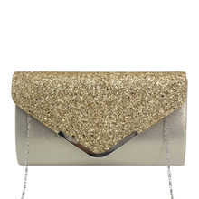 Women Evening Handbags Fashion Sequins Bag Cocktail Party Chain Phone Evening Bags Bolso Mujer Pochette Femme Clutch(China)