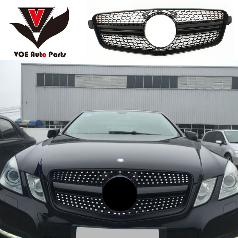 W212 Diamond Front Racing Grill Grille Prefacelift for Mercedes-Benz 2010-2013 E-class Sedan 4-Door W212 E320 E350 E400 image