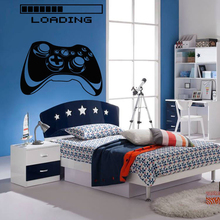 Wall Decal Gamer Xbox Loading Controller Games Sticker Home Decor Customized For Kids Bedroom Vinyl Art Decals A1-009