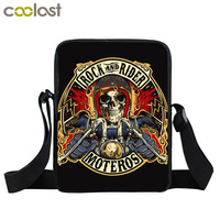 Vintage Skull Harley Motorcycle Eagle Crossbody Bags For Men Handtas 3D Kids Rock Bao Bao Shoulder
