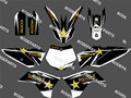 0113 Black&White Star New Style TEAM GRAPHICS&BACKGROUNDS DECALS STICKERS Kits for KTM Motorcycle SX65 2009 2010 2011 2012 2013