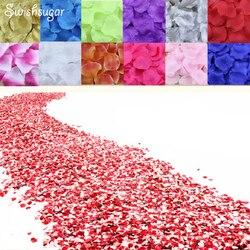 100 pcs Seda Pétalas de Rosa Flor Folhas Pétalas Suprimentos Favor Do Casamento Decorações Do Partido