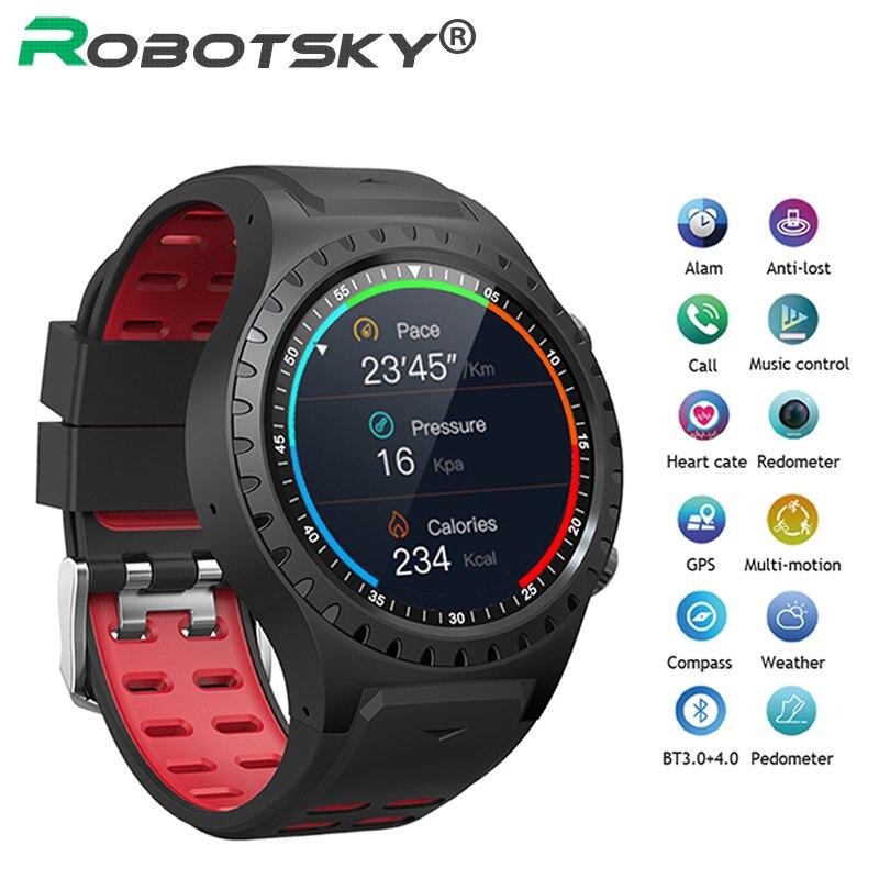 Montre intelligente Robotsky prise en charge carte SIM Bluetooth appel boussole GPS montres IP67 horloge étanche Sport Smartwatch hommes femmes