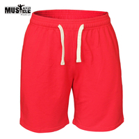 Men Casual Shorts Fitness Gyms Shorts Workout Bodybuilding Shorts With Pockets And Drawstring Running Athlete Sports