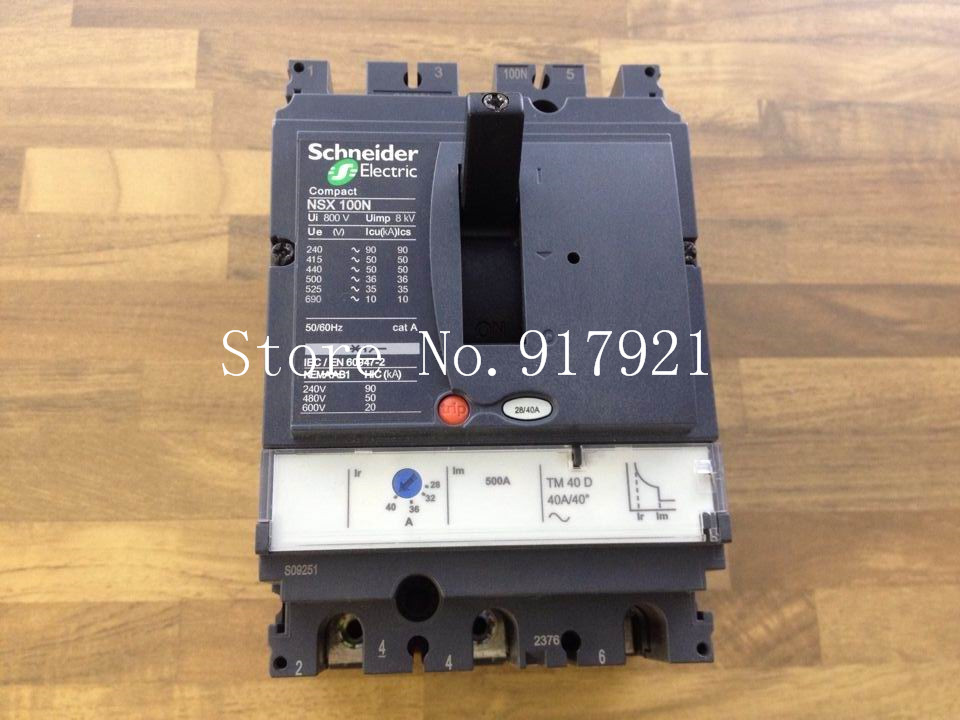 [ZOB] original NSX100H MA50 air switch 3P50A circuit breaker (ensure genuine original)