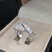 Heavy Build Minimally Inlaid Zircon Rings Stylish Snake Rings Lord Of Punk Style 2938