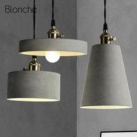 Loft luzes pingente de cimento retro industrial pingente lâmpada para bar restaurante café decoração pendurar lâmpada moderna conduziu a iluminação luminárias|Luzes de pendentes| |  -