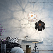Modern nordic LED pendant lights creative lron simple hanging lamp for restaurant living room bar bedroom lamp polyhedron light personality simple modern led creative aluminium pendant lamps cover room restaurant bar study taipei europe lamp pendant fg280