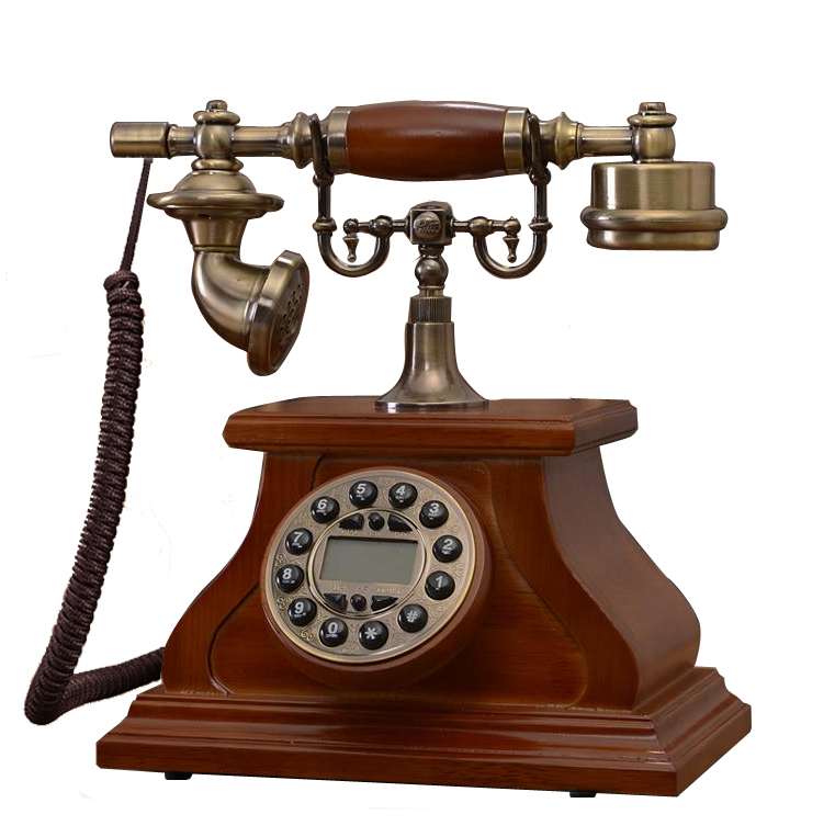 Fashion Wood Phone Antique Landline Telephone Vintage Phone Fitted Landline Phone Telefone for office home telefon telefono fijo