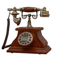 Fashion Wood Phone Antique Landline Telephone Vintage Phone Fitted Landline Phone Telefone for office home telefon telefono fijo