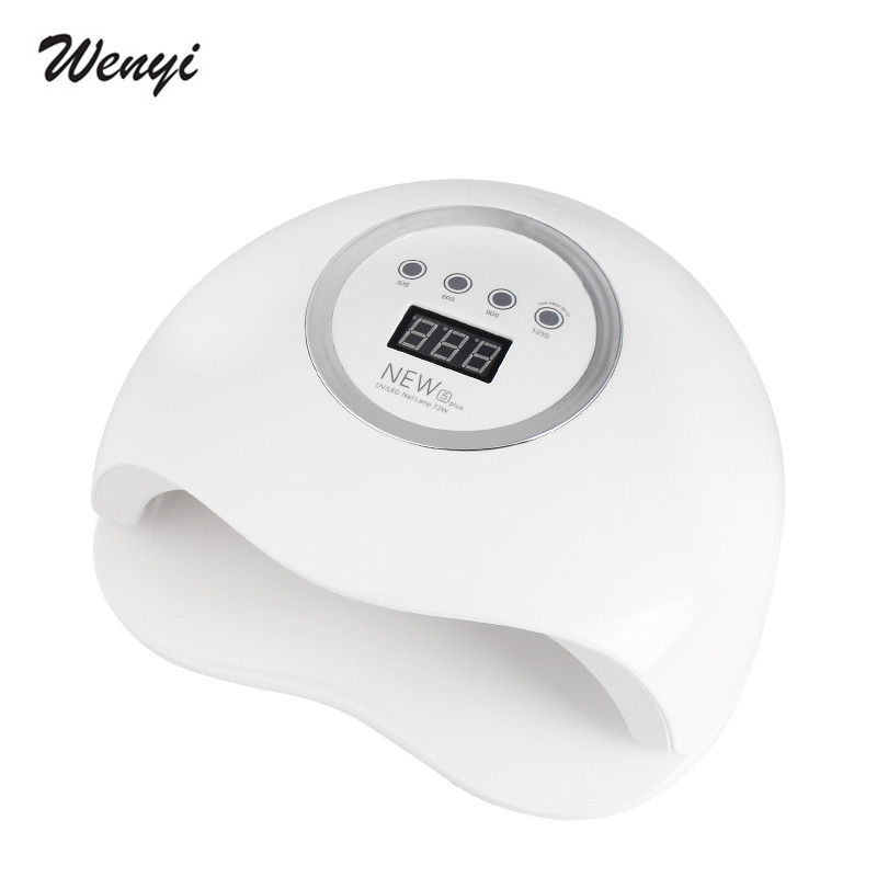 WENYI New Desgin NEW5plus LED UV Nail Lamp 72W Nail Dryer Curing All Gel Polish Fashion