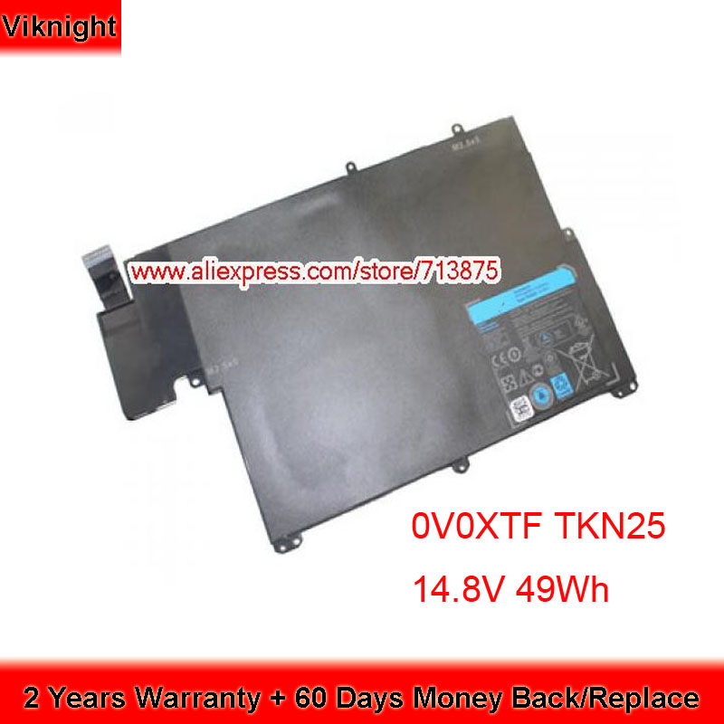 Original 14.8V 49Wh 0V0XTF TKN25 Battery for Dell Vostro 3360 088JR6 RU485 Original 14.8V 49Wh 0V0XTF TKN25 Battery for Dell Vostro 3360 088JR6 RU485