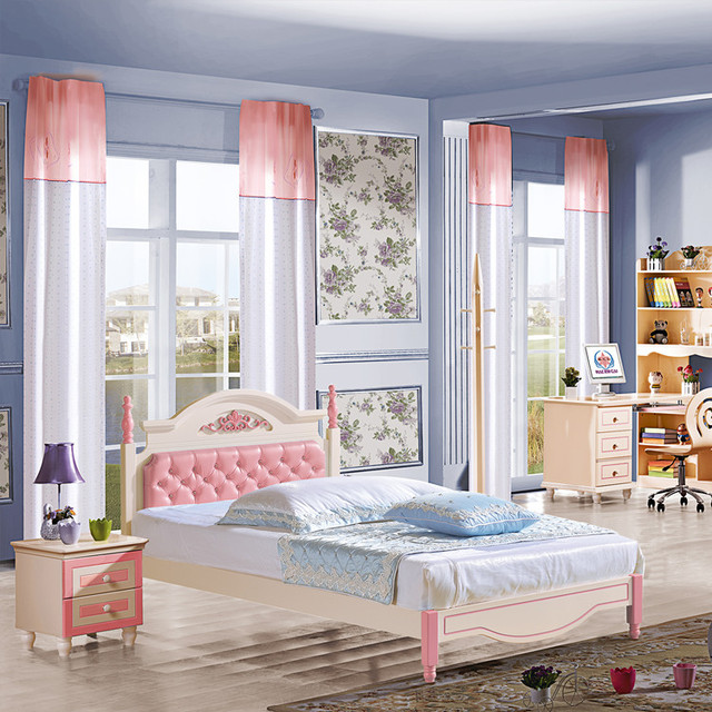 European Children S Furniture Young Bedroom Suite Combination Twins Boy Three Wardrobes