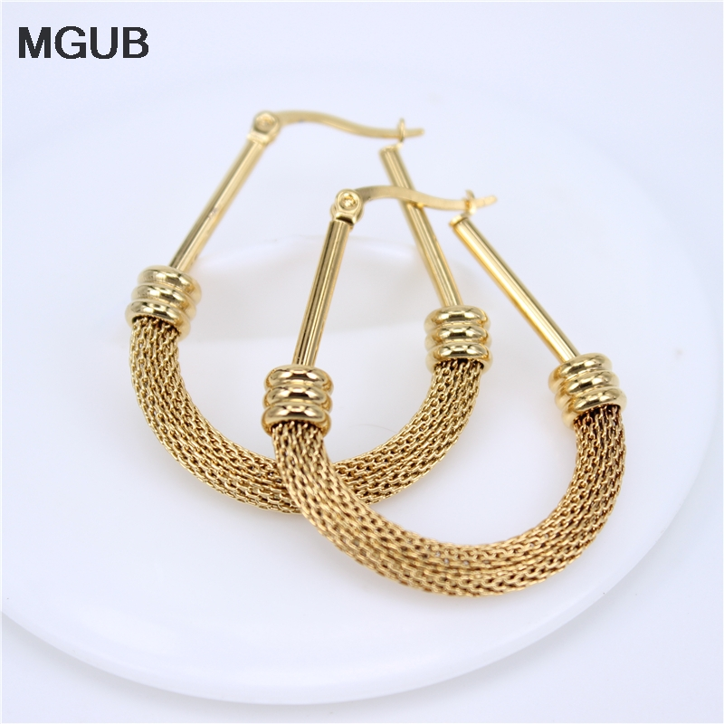 MGUB Design Round Hoop Earring Gold color  Element  Fashion Wedding Earrings For Women LHEH13