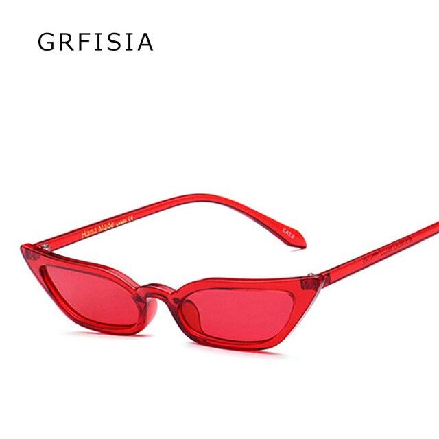 GRFISIA Sexy Small Cat Eye Sunglasses Of Women Luxury Glasses Brand Designer Sun Glasses Vintage Shades UV400 Female Oculos G201