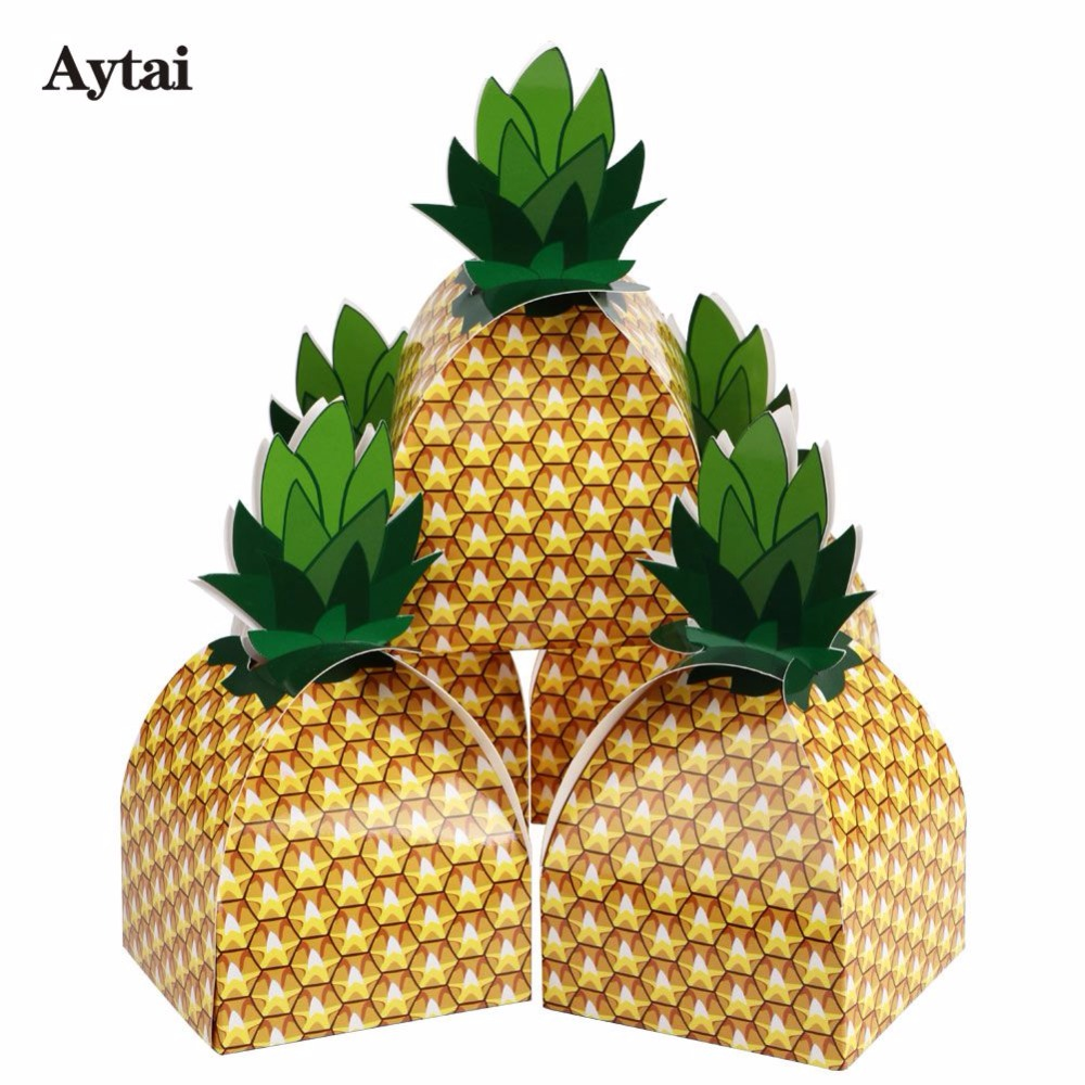 Aytai 60pcs Tutti Frutti Birthday Party Hawaiian Luau Party Decorations Pineapple Favor Handmade Gift Boxes ...