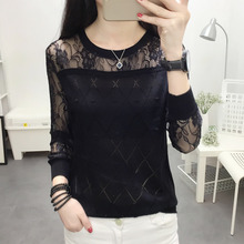 laceSweater holle blouse mouwen