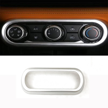 Car Accessories ABS Chromed Air Conditioner Switch Board Cover Trim Molding for Nissan Kicks 2017 Auto Styling