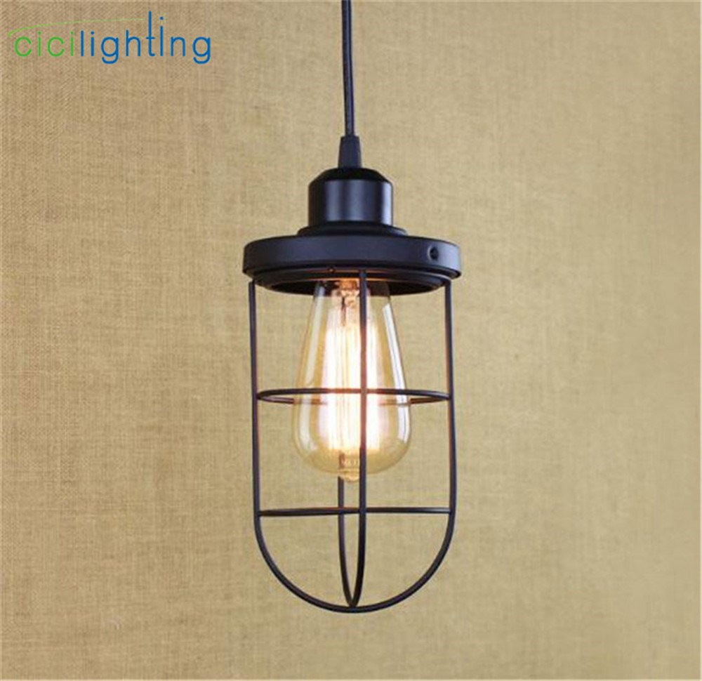 Industrial Warehouse Pendant Lights American Country Lamps Vintage Lighting for Restaurant/Bedroom Home Decoration Black vintage loft iron lid pendant light american restaurant lamps for home modern lamps vintage lighting for bedroom home decoration