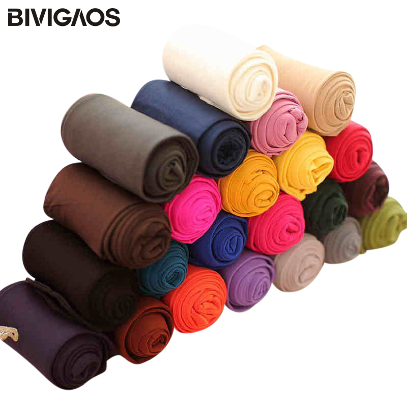 BIVIGAOS Fashion <font><b>Sexy</b></font> <font><b>Kawaii</b></font> Cute 120D Velvet Seamless Pantyhose Candy Color Tights Opaque Collant Women 18 Color Medias Tocas image