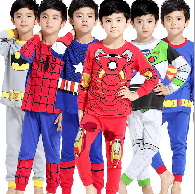 2016 Boys Pijamas Kids Set Children's Pyjamas Clothing Sets Kids Pajamas Baby 2-7 Year Top+ShortsCartoon Pyjama Enfant Sleepwear(China)